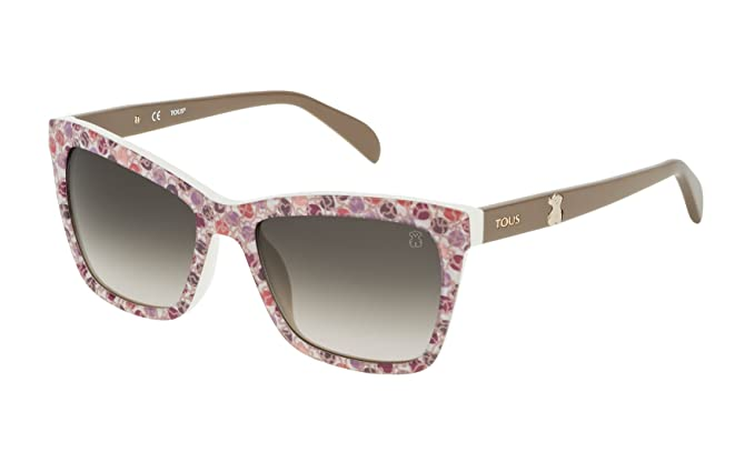 Tous STO945-5309RE Gafas de sol, Logomania On White, 53 para Mujer