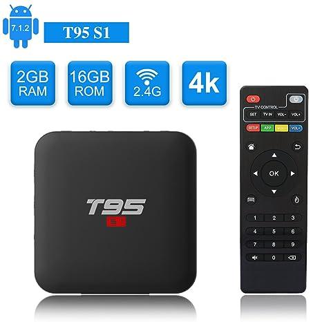 Android 7.1 TV Box YAGALA T95 S1 Amlogic S905W Quad Core 2GB//16GB HDMI 4K Full HD Ethernet WiFi 2.4GHz USB Media Player