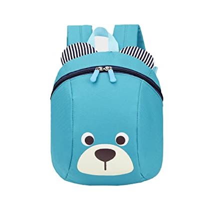 1cb78515c3c6 Comfysail Small Kids Backpack – Nylon Cute Bear Printed Toddler Blue  Backpack Best Gift for 1-3 Years Old Boys and Girls Daily Use