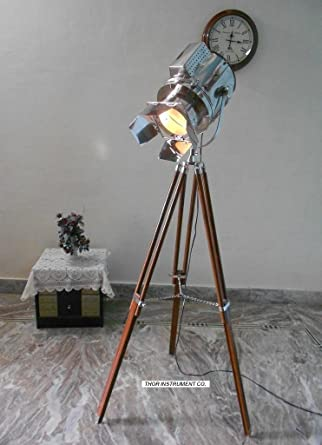Designer nautical spot light tripod floor lamp searchlight home designer nautical spot light tripod floor lamp searchlight home decor nauticalmart aloadofball Images