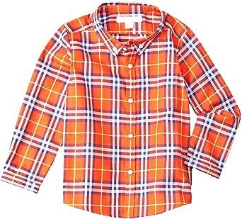 Burberry Camisa de franela a cuadros con cuello abotonado ...