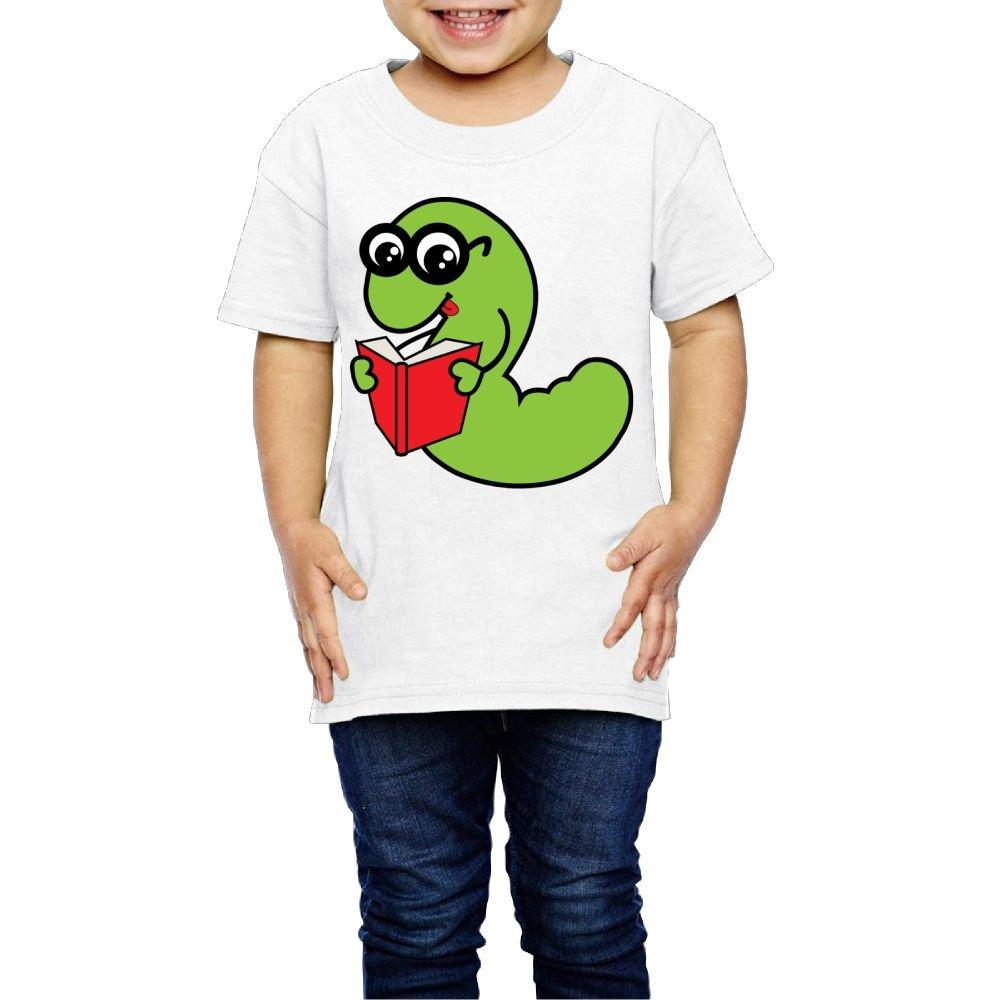 Moniery Cute Short-Sleeves T-Shirts Cute Bookworm Birthday Day Baby Boy Toddler