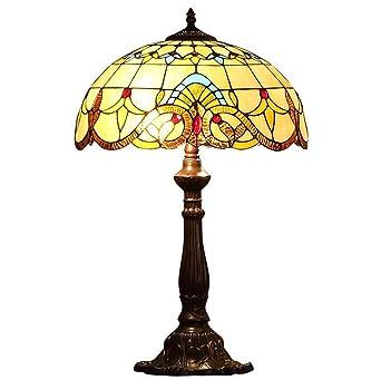 Tiffany Style Tischlampe, Europäische Barock Glasmalerei Schreibtischlampe,  Kreative Einfache Schlafzimmer Schlafzimmer Arbeitszimmer Dekoration ...
