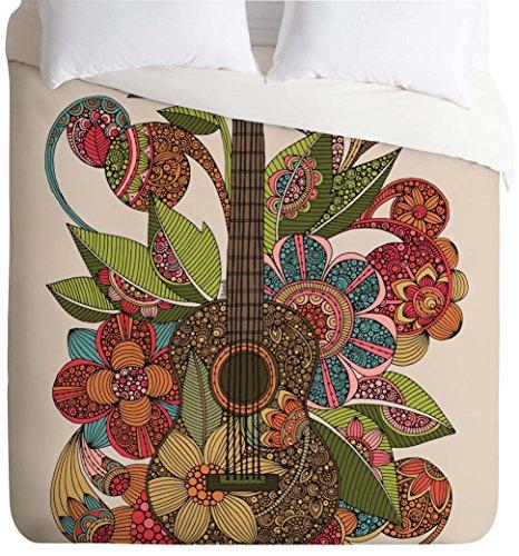 Top Guitar Quilt (Deny Designs Valentina Ramos Ever Guitar Duvet Cover, Twin/Twin XL)