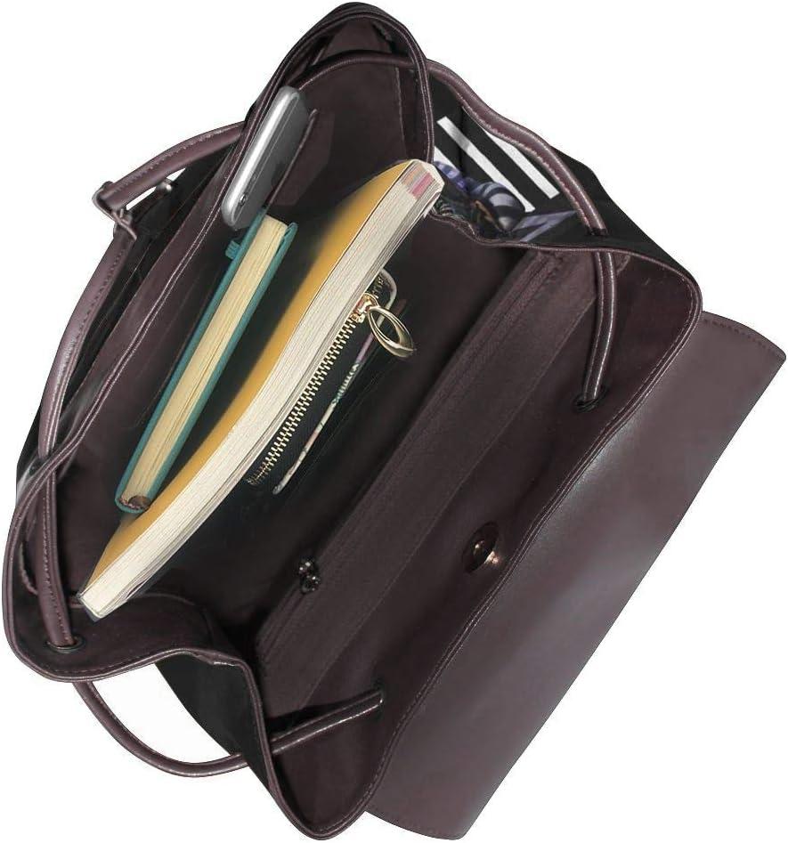 Beetlejuice The Musical Womens Leather Backpack Multifunction College School Laptop Bookbag