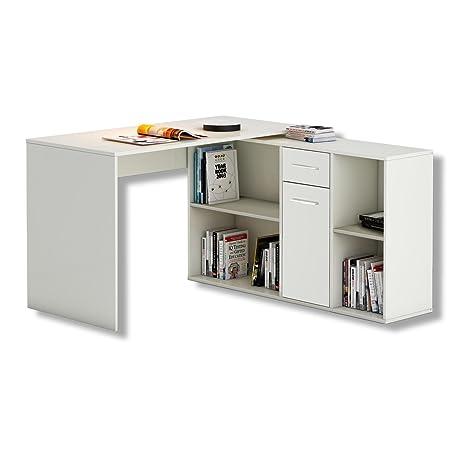 CARO-Möbel DIEGO - Mesa de escritorio esquinera, con estante ...