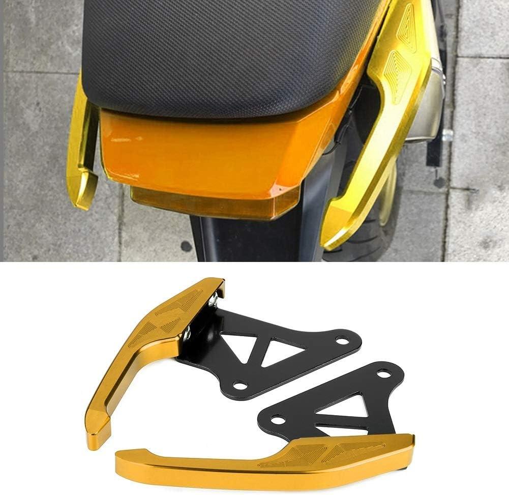 Rear Grab Red, Blue, Gold Universal Aluminum Motorcycle Pillion Passenger Grab Bar Rear Seat Rail Handle Kit Color : Red