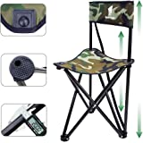 GEERTOP 折りたたみ式 椅子 チェア 背もたれ付き 非常安定 直径20mm 重量2kg 耐荷重150kg 三脚 アウトドア キャンプ スツール 釣り ハイキング 狩猟 旅行用