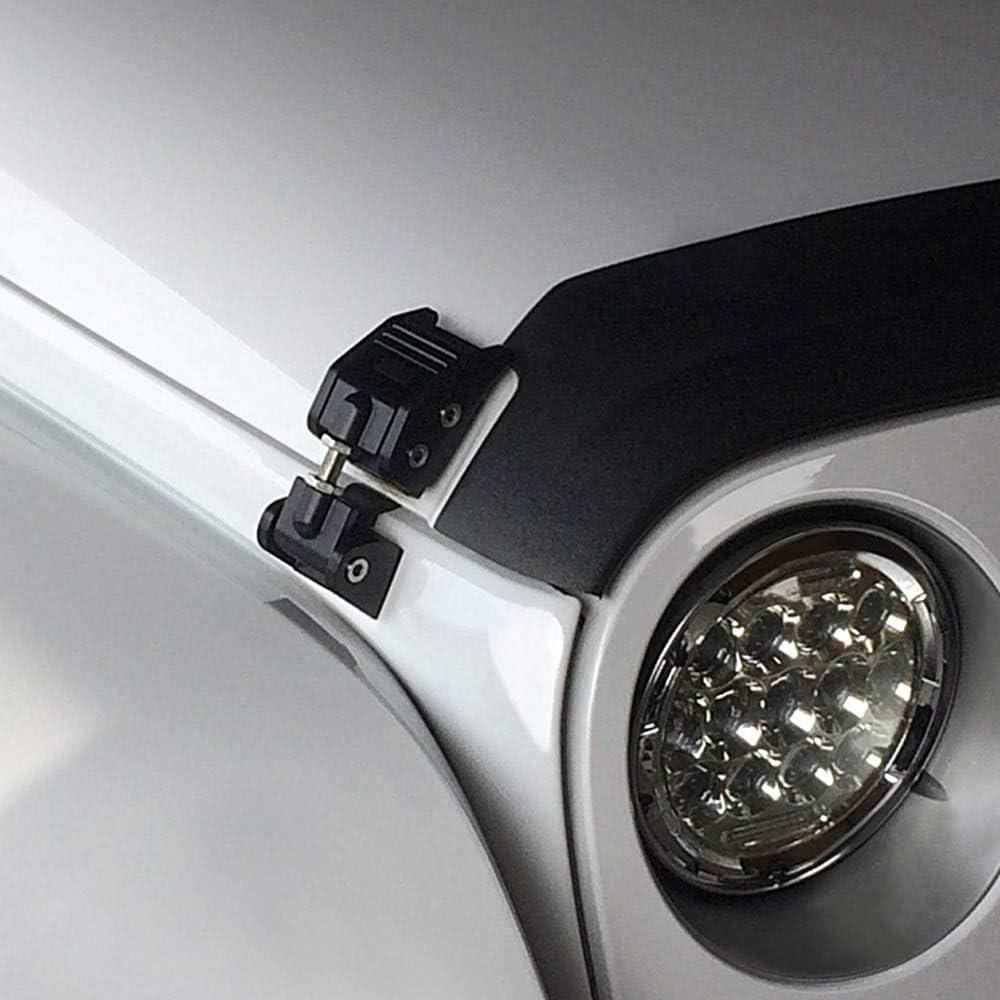 Jeep Hood Catch Kit 2PCS DOXMALL Black Aluminum Hood Latch Kit for 2007-2018 Jeep Herdsman JK