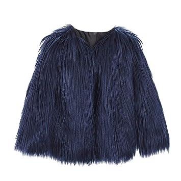 Mujer y Niña abrigo otoño fashion carnaval,Sonnena ❤ Abrigo de invierno de mujer Rebeca de piel de imitación de alta calidad Capa de color sólido: ...