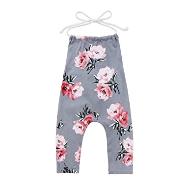 51c5cd81be3 Image Unavailable. Image not available for. Color  Sleeveless Toddler Baby  Kids Girl Flower Lace Halter Floral Romper Jumpsuit Clothes
