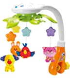 KiddoLab Baby Crib Mobile with Lights and Relaxing Music. Includes Ceiling Light Projector with Stars, Animals. Musical…