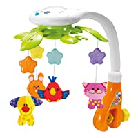 KiddoLab Baby Crib Mobile with Lights and Relaxing Music. Includes Ceiling Light...