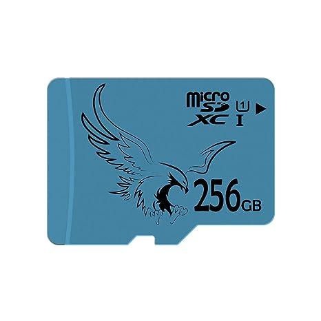 BRAVEEAGLE Tarjeta Micro SD de 256 GB Clase 10 U1 Full HD de hasta 80 MB/s de Velocidad de Lectura Tarjeta de Memoria Flash microSDXC con Adaptador SD ...