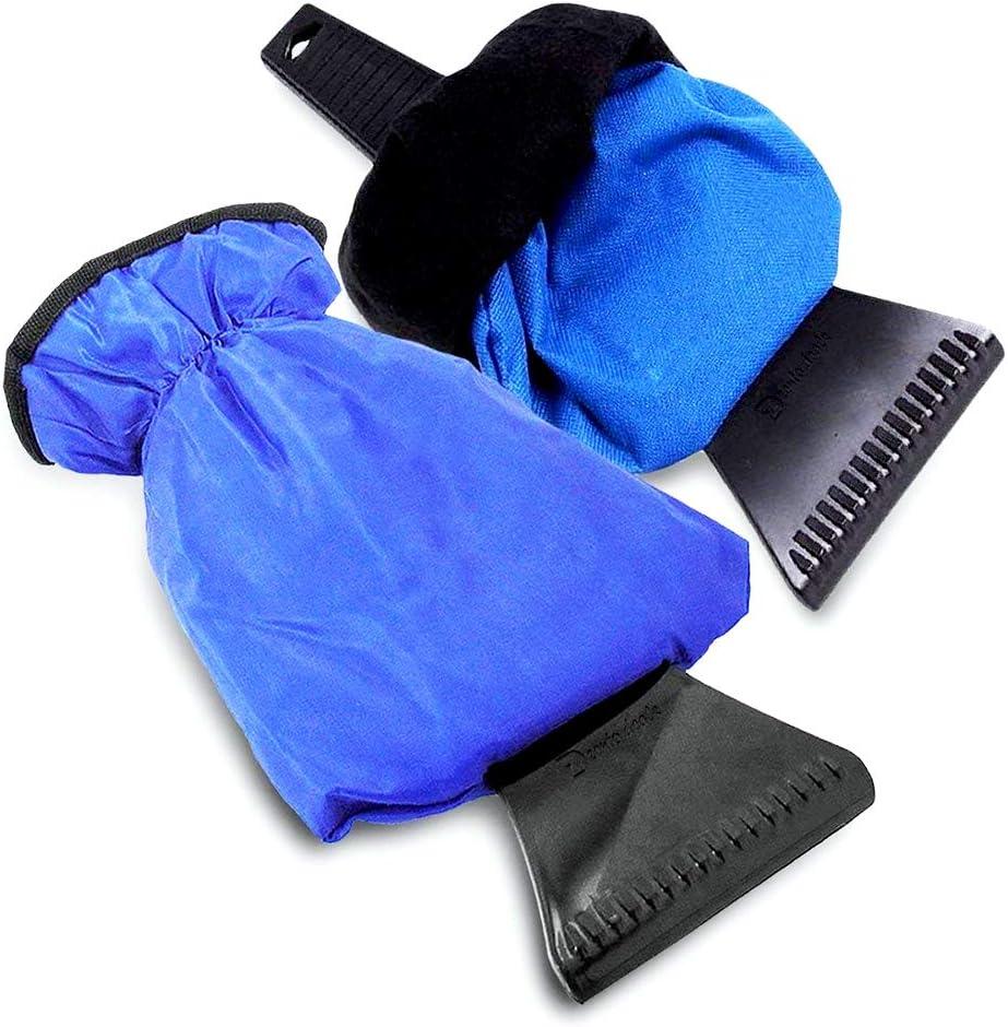 Modaka Pelles /à Neige Grattoir /à Glace Pelle pour Voiture Grattez Une Pelle Magique Ronde Bleu {Pelles