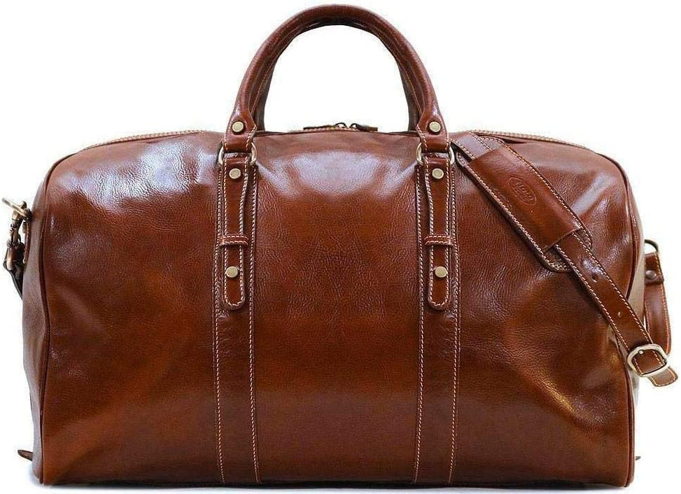 Floto Luggage Venezia Grande Duffle Bag, Vecchio Brown, One Size