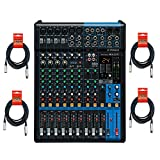 Yamaha MG12XU 12 Input, 4 Bus Mixer (with Compression, Effects, and USB) w/ Cables