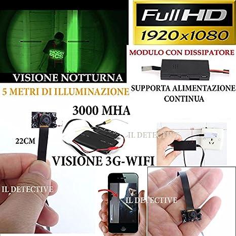 Cámara espía con WiFi, microcámara oculta con LED infrarrojos de visión nocturna, full HD: Amazon.es: Electrónica