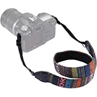 oz_Mart Retro Ethnic Style Multi-Color Series Shoulder Neck Strap Camera Strap for Nikon Canon Sony Panasonic SLR/DSLR Cameras