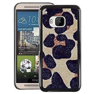 A-type Arte & diseño plástico duro Fundas Cover Cubre Hard Case Cover para HTC One M9 (Leopard Pattern Fur Animal Nature)
