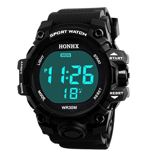 Relojes Niños,❤LMMVP❤Impermeable niños chicos digital LED deportes reloj niños alarma fecha reloj regalo (A): Amazon.es: Relojes