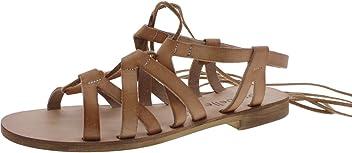 f552ea042 Cocobelle Womens Wrap-Up Open Toe Flat Sandals