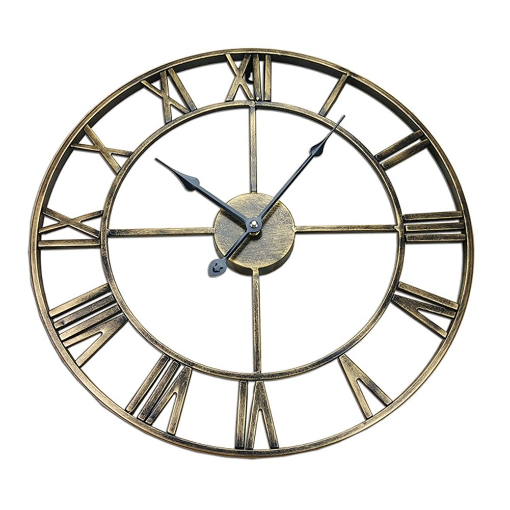 CSQ アイアンアートウォールクロック、カフェレストラン衣料品店リビングルームウォールクロック木製壁時計の装飾ビンテージウォールクロック直径40-45CM ウォールクロックと掛け時計 (色 : A, サイズ さいず : 45×45 cm 45×45 cm) B07DN6ZZTXA 45×45 cm 45×45 cm