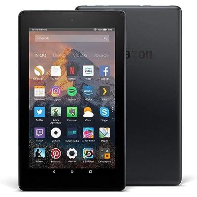 Tablet Fire 7, pantalla de 7'' (17,7 cm), 16 GB (Negro) - Sin ofertas especiales (7ª generación - modelo de 2017)