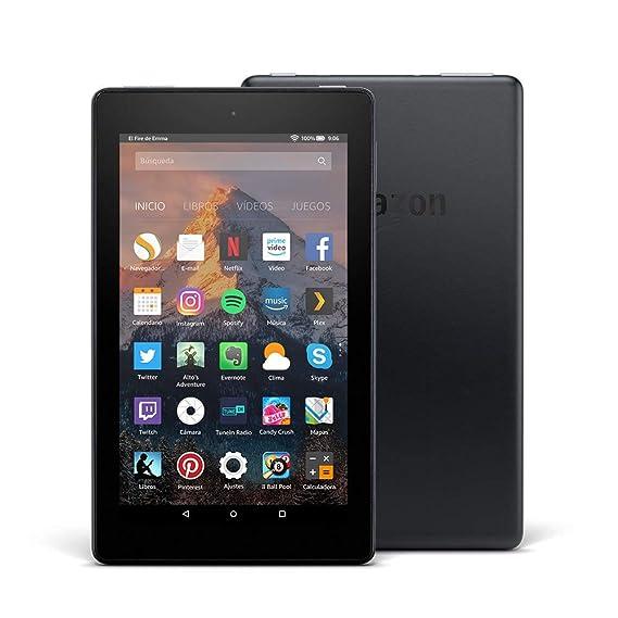 Tablet Fire 7, pantalla de 7 (17,7 cm), 16 GB (Negro) - Incluye ofertas especiales (7ª generación - modelo de 2017)