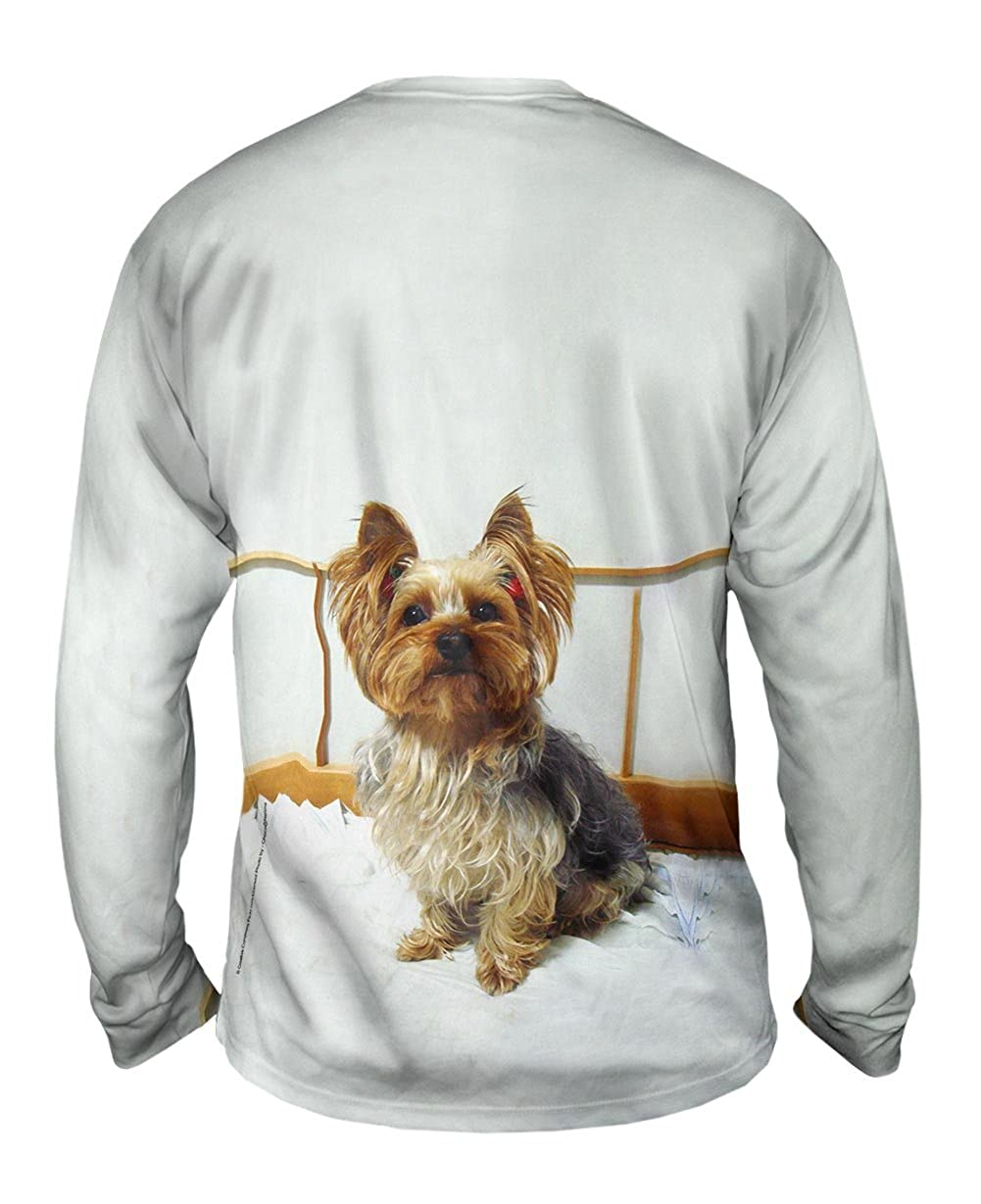 TShirt Mens Long Sleeve Fancy Yorkshire Terrier Yizzam