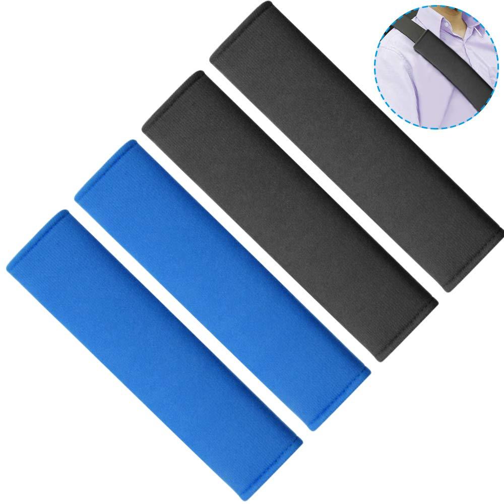 Black /& Blue AFUNTA 4 Pcs Car Seat Belt Shoulder Pads Soft and Comfortable Universal Car Seat Belt Pads for Adult and Children