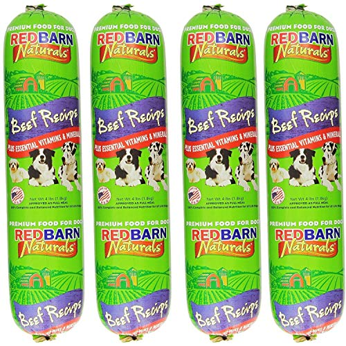 Redbarn Pet Products Beef Food Roll, Net Weight 4 lbs (4-Pack)