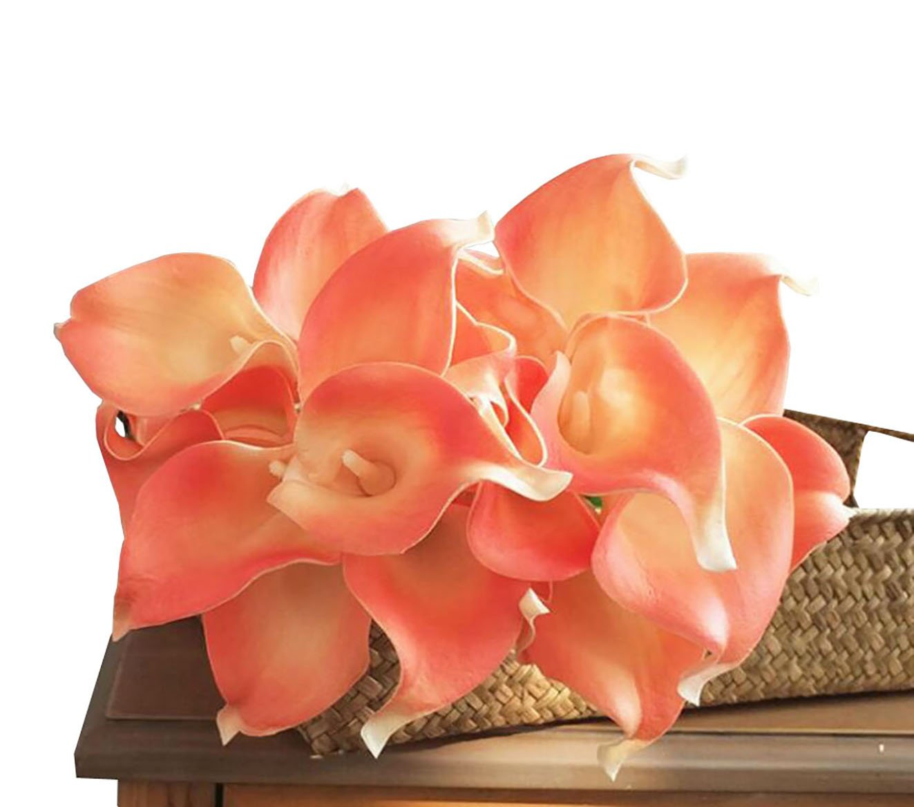 En-Ge-10-Heads-Mini-Calla-Lily-Bridal-Wedding-Bouquet-Real-Touch-Flower-Bouquets-coral