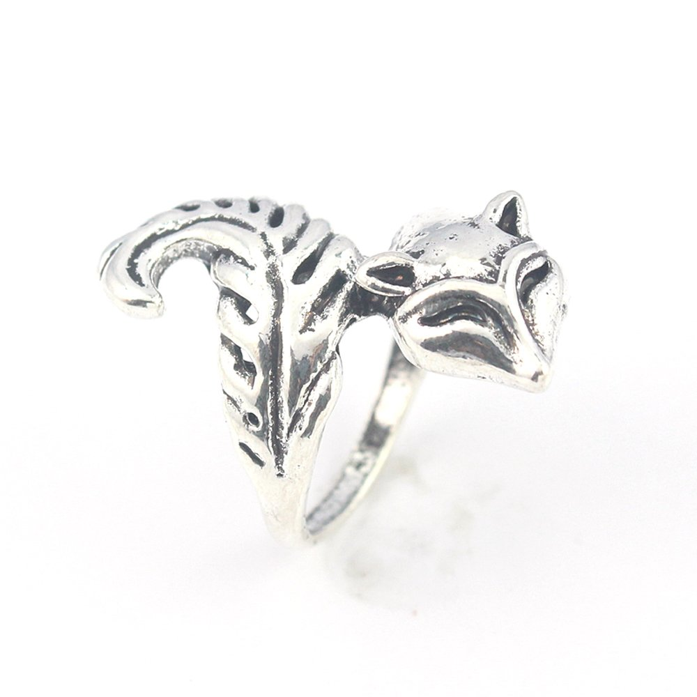 SQUARREL PLAIN FASHION JEWELRY .925 SILVER PLATED RING 8 S23337