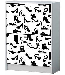 vinilos decorativos muebles Vinilo Decorativo Mueble Zapatero Zapatos Colores Varias