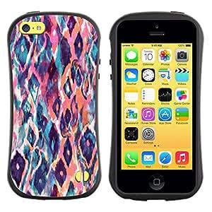 Suave TPU GEL Carcasa Funda Silicona Blando Estuche Caso de protección (para) Apple Iphone 5C / CECELL Phone case / / Watercolor Teal Orange /
