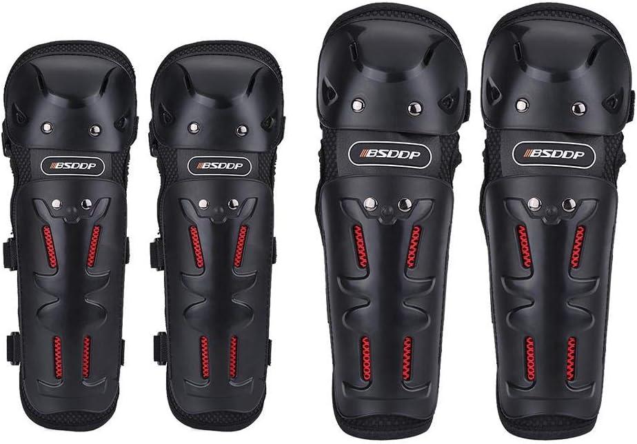 Huakii 𝐁𝐥𝐚𝐜𝐤 𝐅𝐫𝐢𝐝𝐚𝒚 4pcs Protector Protector Equipo Protector, Motocross Motocicleta Ciclismo Coderas Rodilleras