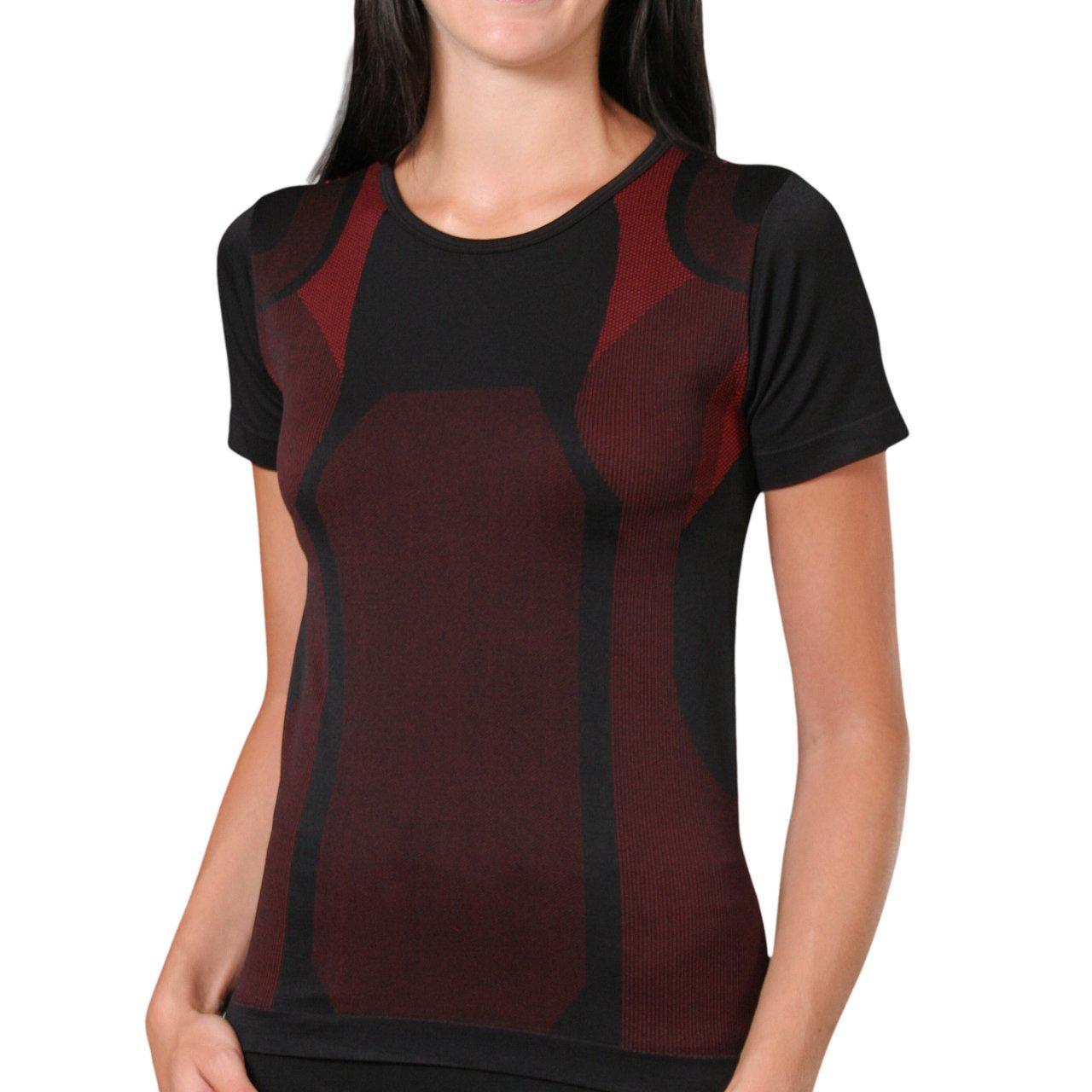 Sport Funktionswäsche Damen Kurzarm Hemd Seamless von celodoro - Ski-, Thermo- & Funktionsshirt ohne störende Nähte mit Elasthan in versch. Farben