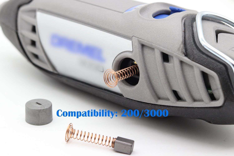 4 PCS Carbon Motor Brushes Compatible Dremel 3000 200 Brush Repairing Part for Electric Rotary Motor Tool
