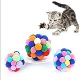 3個セット 猫 ボール おもちゃ Imikoko ペットボール 鈴入れ 猫 噛むおもちゃ 運動不足やストレス解消 レーニング 猫遊び用 (3Pcs S/M/L カラフル)
