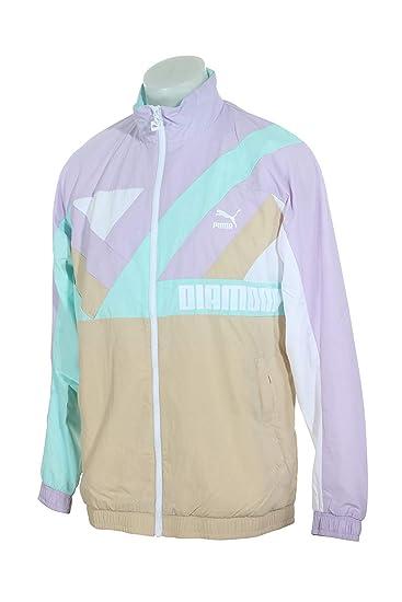 PUMA Men s x Diamond Wind Jacket White Large  PUMA  Amazon.co.uk  Clothing 941e7eb9a4cc