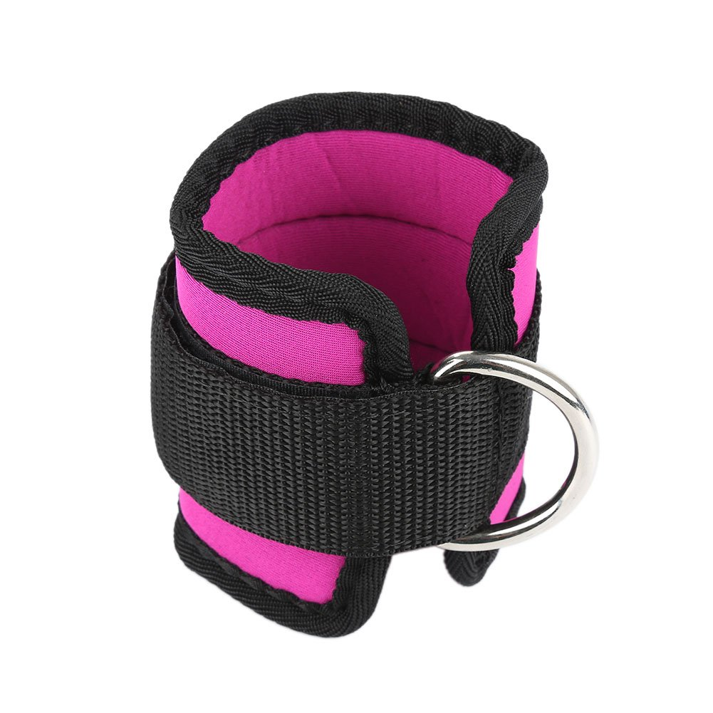 aaerp Ring Ankle Anchor Strap Belt Multi Gym Cable Attachment Thigh Leg Pulley Strap red 40 x 5cm(L * W)