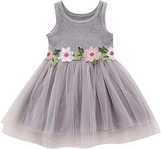 Infant Baby Girls Sleeveless Patchwork Winter Knitting Dress Outfit Clothes Set