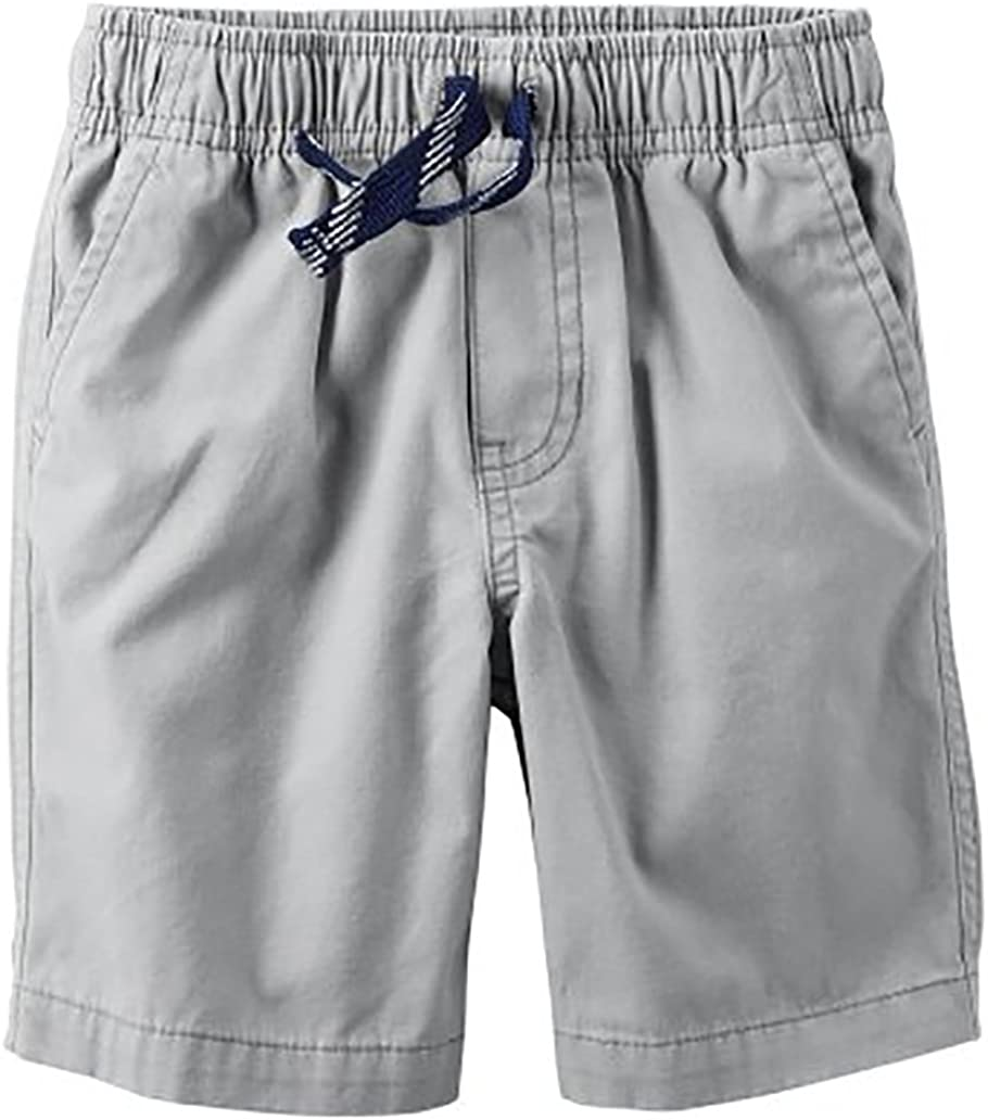 2T Carters Baby Boys Pull-On Canvas Shorts Gray