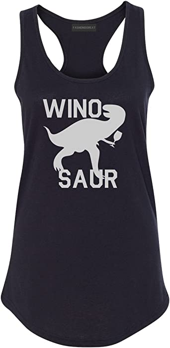 Wino Saur Winosaur Dinosaur Racerback Tank Top At Amazon Women S Clothing Store