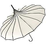 VIVISKY(TM) Pagoda Peak Old-fashionable Ingenuity Umbrella Parasol (Ivory)