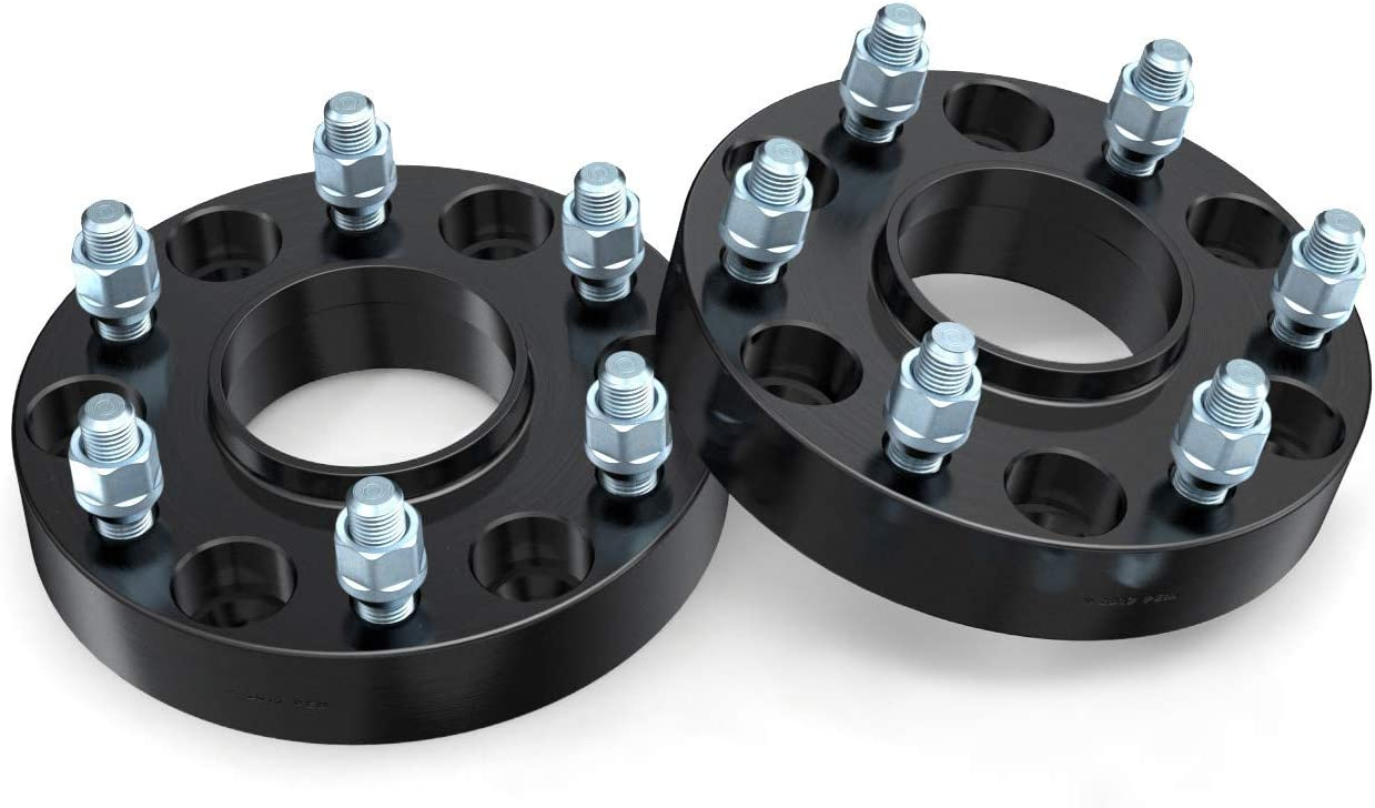 6x5.5 to 6x5.5, 78.3mm Bore, 14x1.5 Studs 6x139.7 Black 2pcs GMC Savana Yukon RockTrix 1.25in Hubcentric Wheel Spacers Compatible with Cadillac Escalade Chevy Avalanche Silverado Suburban Tahoe