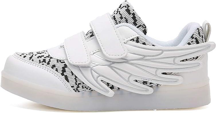 DAY8 Basket Fille Montante LED Lumineuses Pas Cher Basket Enfants Gar/çon Sport Running Chaussure Garcon Lacet Automne Mesh Tricot Sneakers Fille Printemps Bottine Fille Caoutchouc