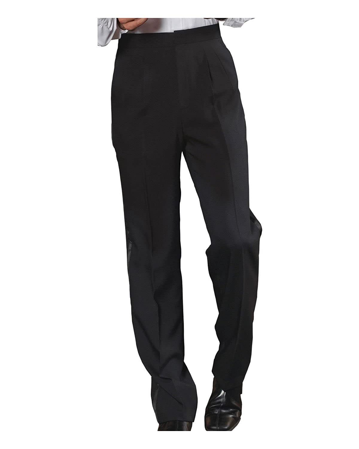 Ed Garments Mens Traditional Pleated Front Tuxedo Pant BLACK 46 33