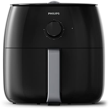 Philips Twin TurboStar Technology XXL Airfryer with Fat Reducer, Analog Interface, 3lb 4qt, Black – HD9630 98